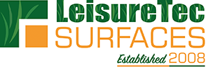 LeisureTec Surfaces 10 Year Logo