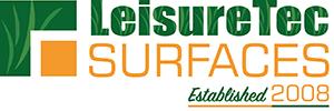 LeisureTec Surfaces 10 Year Logo